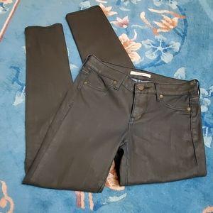 Rich & Skinny Black/Blue Jeans Sz 24
